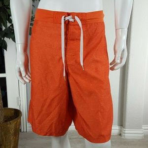 OP Men's Swim Trucks Orange Shorts Size Large